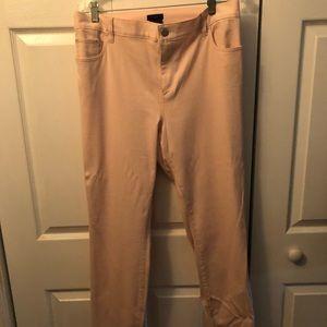 Ann Taylor blush 5 pocket pants never worn